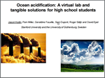 Teaching Ocean Acidification: A virtual lab and tangible solutions for high school students