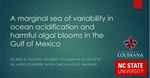 A marginal sea of variability in ocean acidification and harmful algal blooms in the Gulf of Mexico