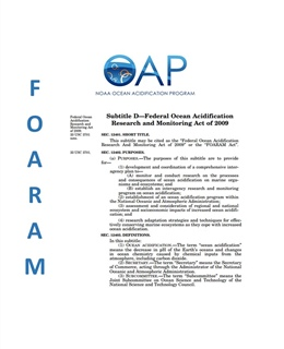 Federal Ocean Acidification Research and Monitoring Act